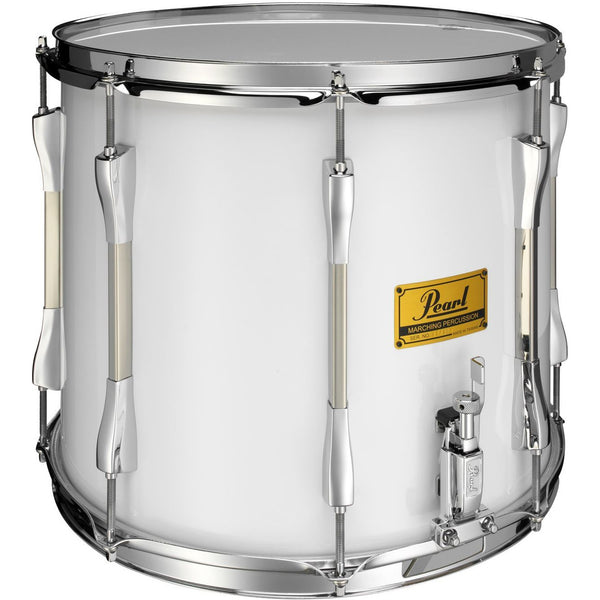 "Pearl Parade Series Military Side Drum, 14"" x 12"" Single Snare, White Wrap Chrome Counterhoops"