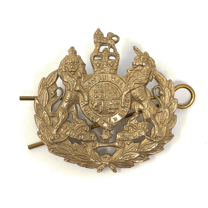 Metal Crown Command / Corps Sergenat Major  - Brass - Shank Fitting