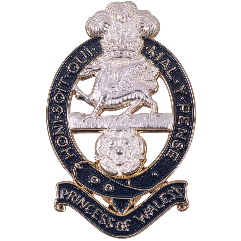 PWRR Other Ranks - Forage Cap Badge - 2 Screws on Reverse for use on MoD Plate