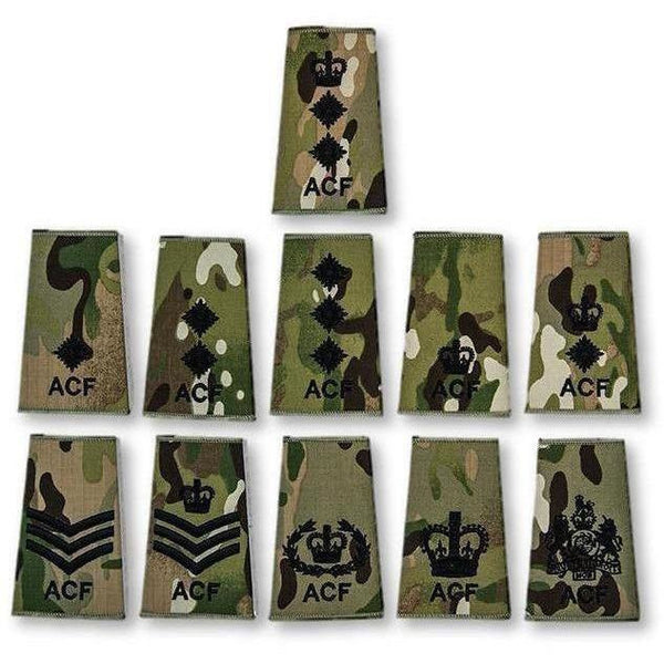 Adult Volunteer ACF Rank Slide in Multicam MTP | Ammo & Company | Embroidered Badges