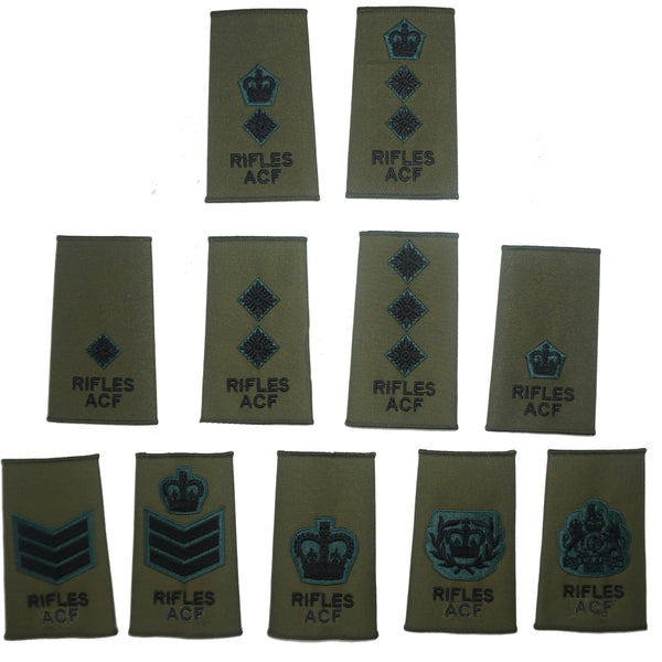 CFAV Rifles ACF Rank Slides