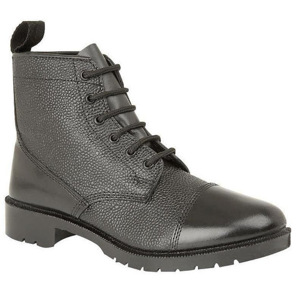 Black DMS Boot - Hi Shine Toe & Counter - Size 4 - 5 | Ammo & Company | Parade Footwear