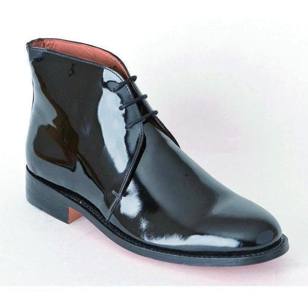 Black Patent Leather George Boot | Ammo & Company | Parade Footwear