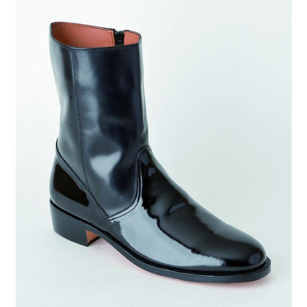 Black Half Wellington Boot - Spur Boxed | Ammo & Company | Parade Footwear