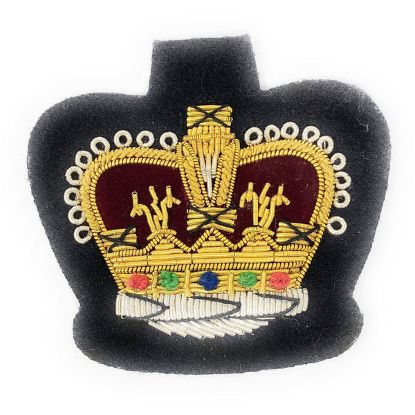 No1 Dress Crown - WO2 on Navy-Embroidered Badges-Official Cadet Kit Shop-Cadet Kit Shop