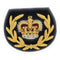 No1 Dress Crown - RQMS on Navy-Embroidered Badges-Official Cadet Kit Shop-Cadet Kit Shop