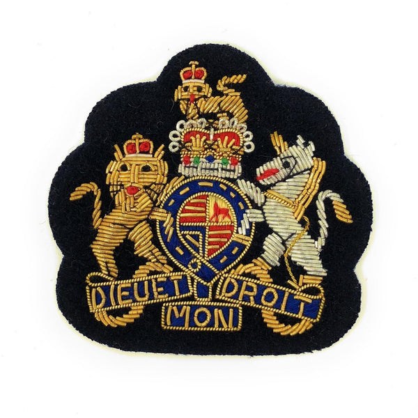 No1 Dress Crown - WO1 on Navy-Embroidered Badges-Official Cadet Kit Shop-Cadet Kit Shop
