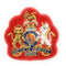 No1 Dress Crown - WO1 on Scarlet-Embroidered Badges-Official Cadet Kit Shop-Cadet Kit Shop