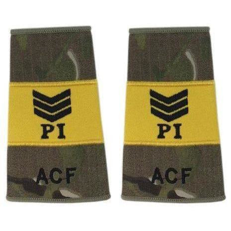 ACF Multicam MTP Probationary Instructor Sergeant Rank Slides | Ammo & Company | Embroidered Badges