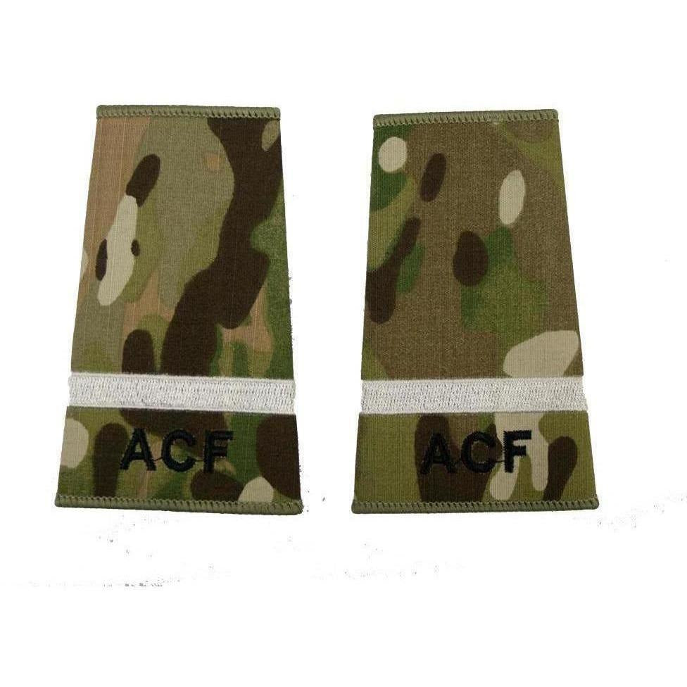 ACF Under Officer rank slide in Multicam MTP | Ammo & Company | Embroidered Badges