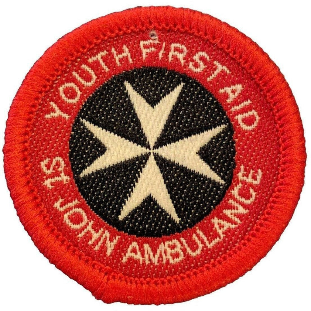 The St John's First Aid Badges-Cadet Force Badges-Ammo & Company-Youth St. John's First Aid (Red)-Cadet Kit Shop