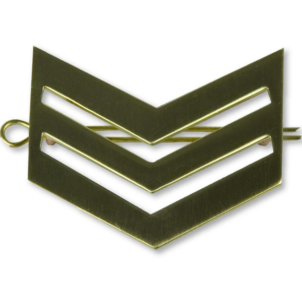 British Army Brass Chevron Sergeant | Ammo & Company | Metal Badges of Rank & Appointment