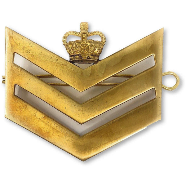 British Army Brass Chevron Staff Seargent | Ammo & Company | Metal Badges of Rank & Appointment