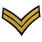 No 1 Dress Chevron Gold on Navy - CPL-Embroidered Badges-Official Cadet Kit Shop-Cadet Kit Shop