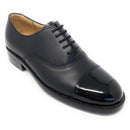 Oxford Shoe with Patent Toe Cap