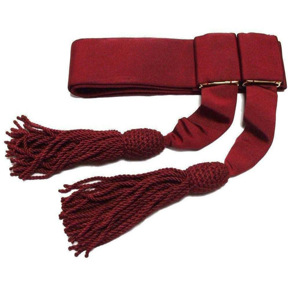 Officers' Crimson Silk Waist Sash-Uniform Clothing & Accessories-Ammo & Company-Small-Cadet Kit Shop
