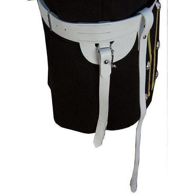 "1 ¾"" Gloss White PVC Sword Belt with Sword Slings. 