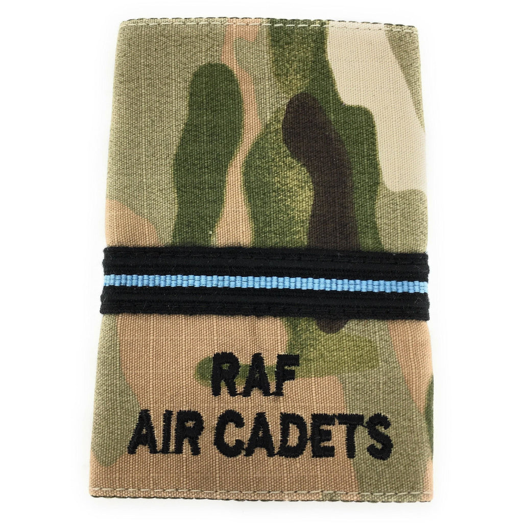Officers' Rank Slide - RAF Air Cadets - Multicam MTP-Embroidered Badges-Ammo & Company-Flight Lieutenant-Cadet Kit Shop