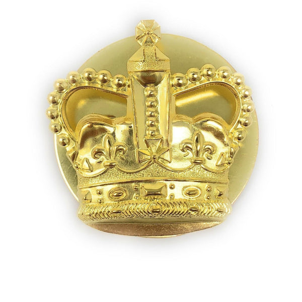 British Army WO2 Brass Crown | Ammo & Company | Metal Badges of Rank & Appointment