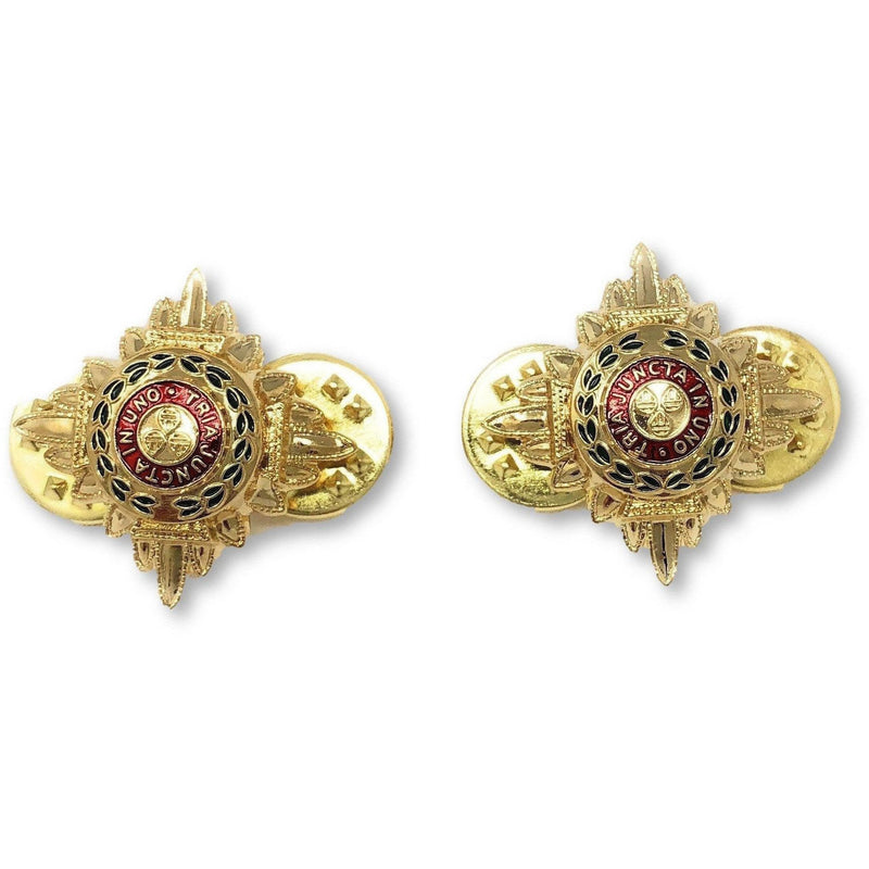 "5/8"" Gold And Enamelled Pips 