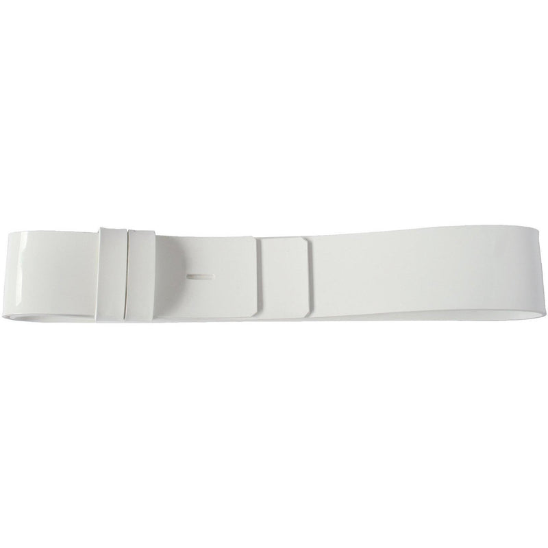 "2 1/4"" Waist Belt, Gloss White PVC 