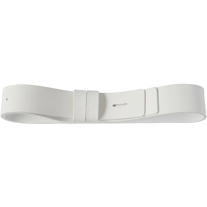 "2 1/4"" Waist Belt, Matt White PVC 