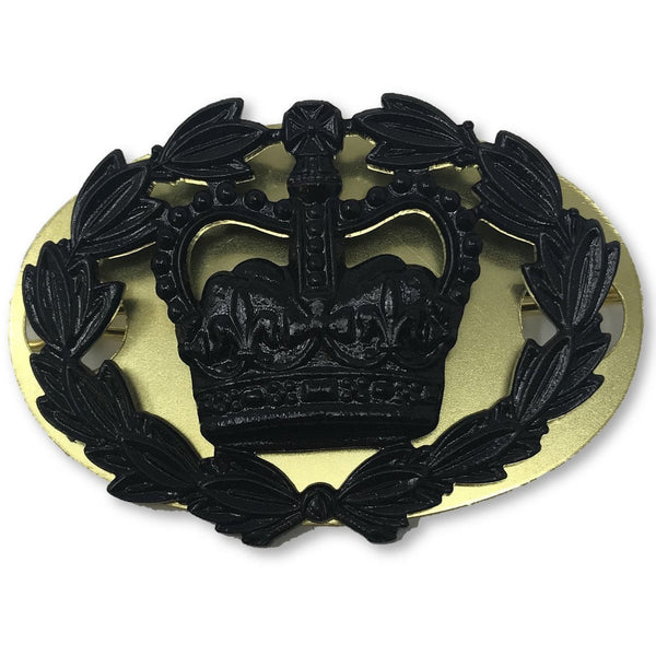 RQMS Black Rank Badge, Back Plate & Shanks-Metal Badges of Rank & Appointment-Official Cadet Kit Shop-Cadet Kit Shop