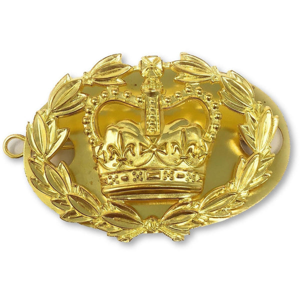 British Army RQMS Brass Crown | Ammo & Company | Metal Badges of Rank & Appointment