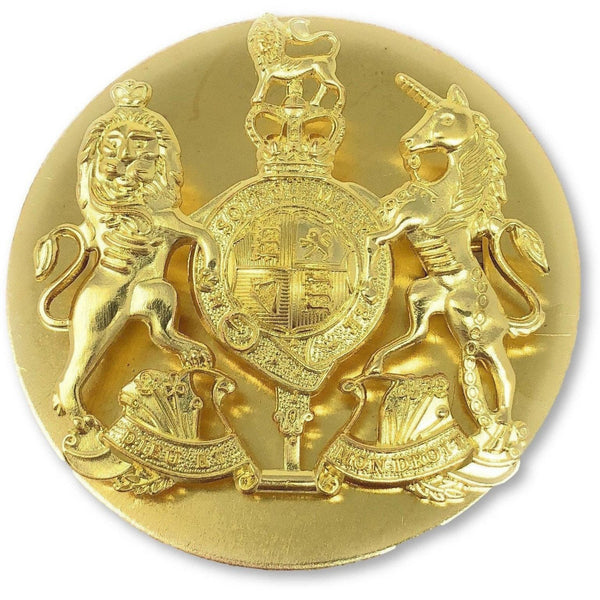 British Army WO1 Royal Arms Brass Badge | Ammo & Company | Metal Badges of Rank & Appointment