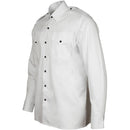 Male Officers' White Shirt - Black Buttons
