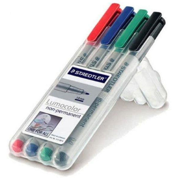 Staedtler Lumocolour,Non-Permanent 4 Pack-Fine Tip-Survival Kit-Official Cadet Kit Shop-Cadet Kit Shop