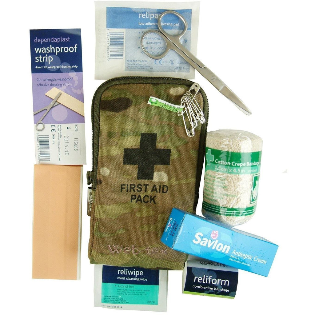 Web-Tex MULTICAM Small First Aid Kit-Survival Kit-Web-Tex-Cadet Kit Shop
