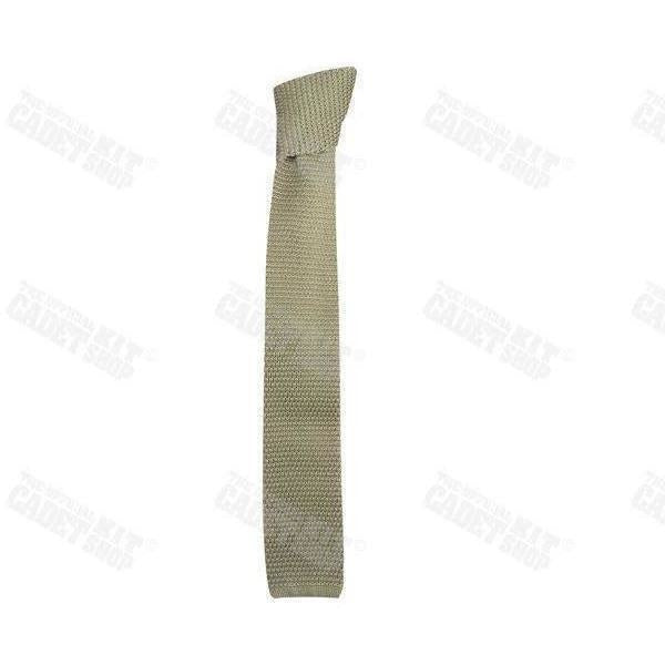 Officers' Silk knitted Tie-Uniform Clothing & Accessories-Ammo & Company-Light Beige-Cadet Kit Shop