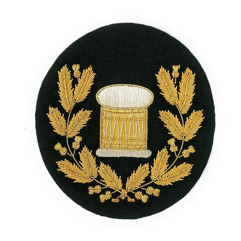 No1 Dress Drum Major's Badge in Wreath - Gold/Rifle Green