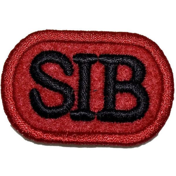 SIB badge - Red BG - Blk Emb - 40 x 27mm [product_type] Ammo & Company - Military Direct