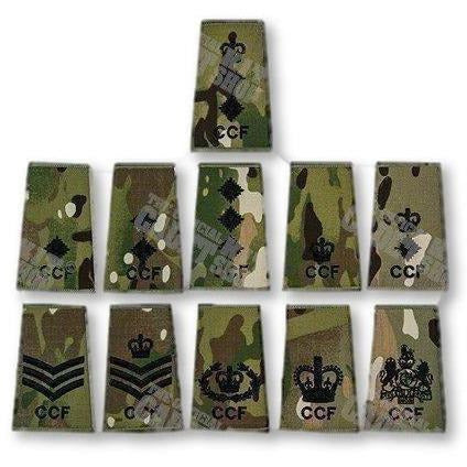Adult Volunteer CCF Rank Slide in Multicam MTP | Ammo & Company | Embroidered Badges