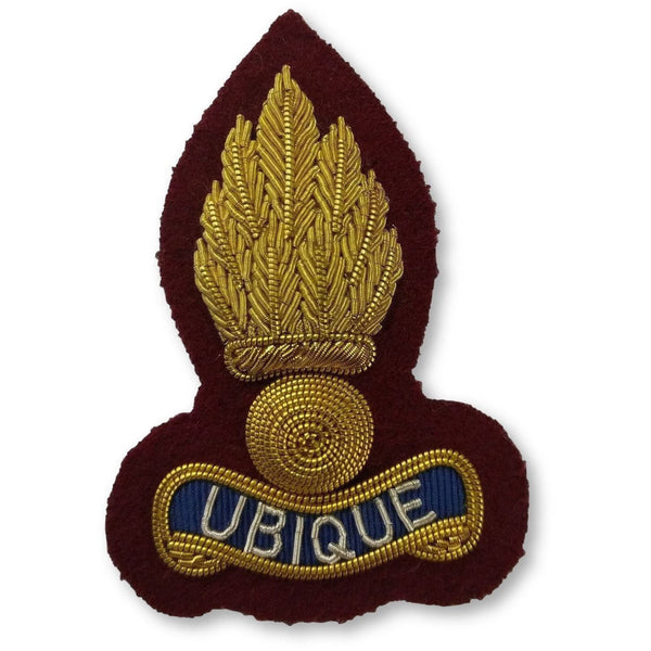Beret Badge - Royal Engineers - B/W Grenade on Maroon | Ammo & Company |