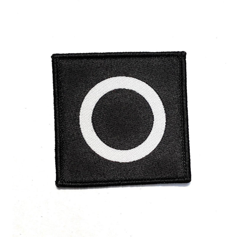 TRF - 6 Infantry Brigade - White Circle on Black - Black Overlock -  (LF) - 50mm x 50mm  - Pack 5