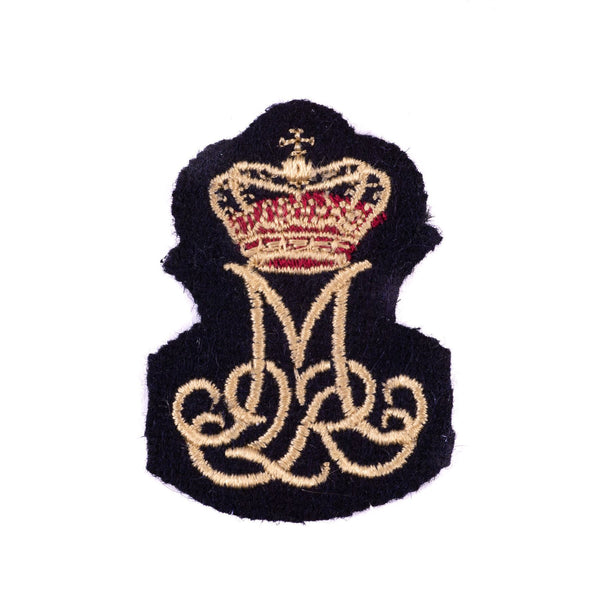 Queen Margrethe II - Royal Cypher Badge - No2 Dress - Embroidered on Navy