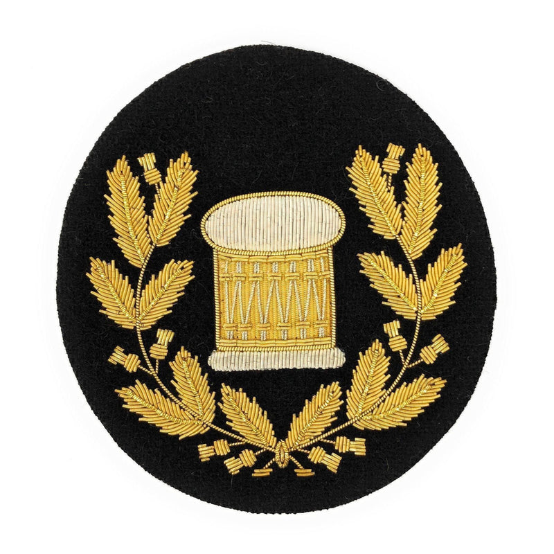 No1 Dress Drum Major's Badge in Wreath - Gold/Black
