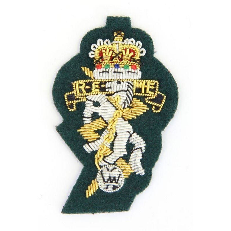 REME-Beret Bge  - B/W - Sil Cut - Command Green Ground