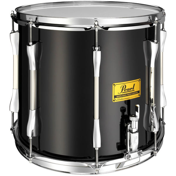 "Pearl Parade Series Military Side Drum, 14"" x 12"" Single Snare, Black Wrap Chrome Counterhoops"