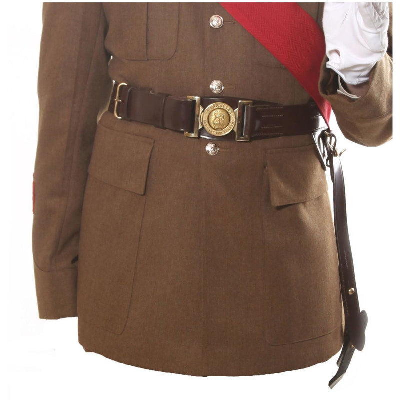 Warrant Officers' Sword Belt & Slings - Brown Leather 44