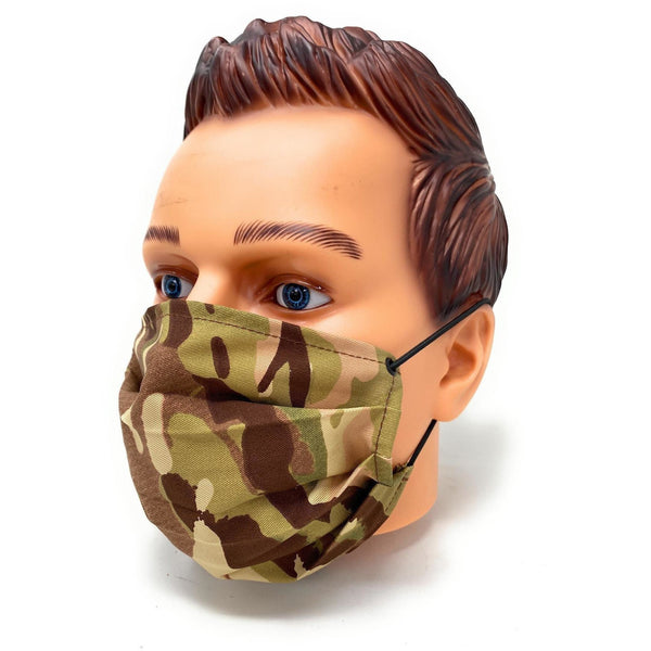 100% Washable Face Mask - Camouflage MTP / Black / DPM