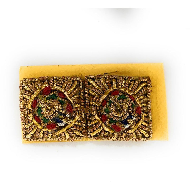 Embroidered Rank Stars - Gold - 3/8 inch