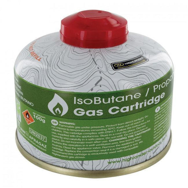 Highlander 230G Valved Butane / Propane Mixed Premium Gas Cartridge
