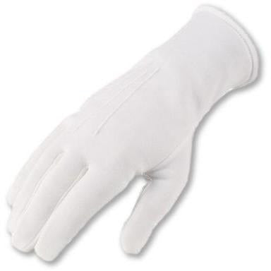 Officer White Parade Gloves - Button Cuff