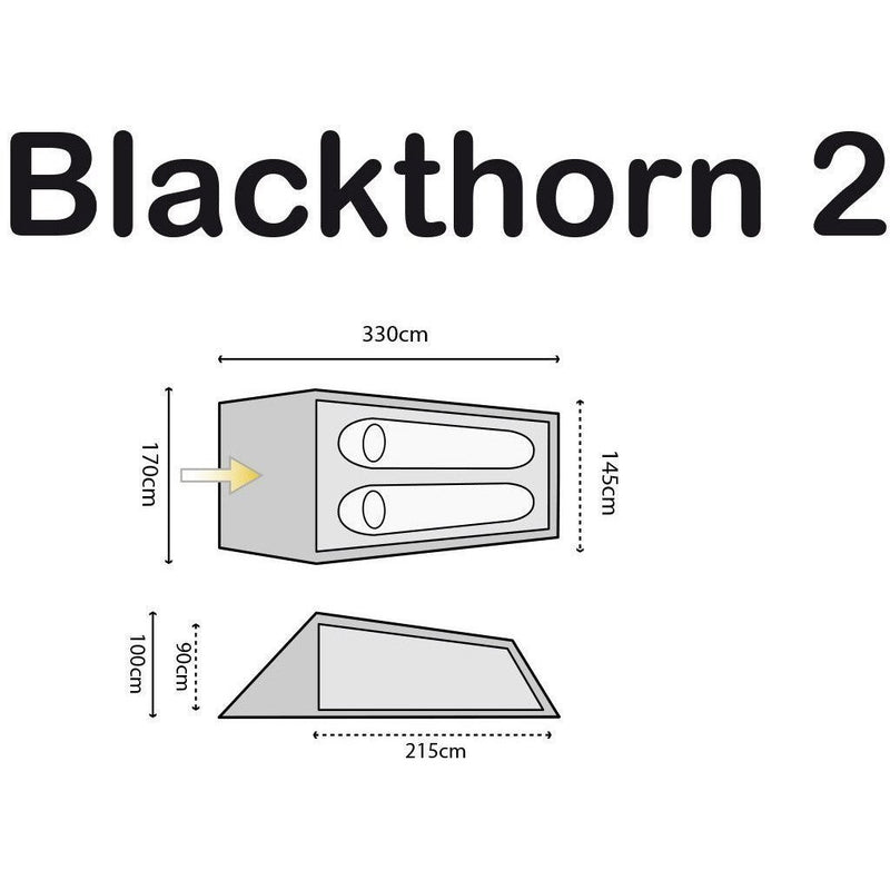 Blackthorn Two Tent  - 2 Person | Highlander | Sleeping & Shelter