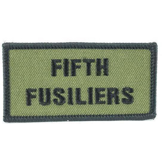Shoulder Patch - Fifth Fusiliers - Black on Olive [product_type] Military.Direct - Military Direct