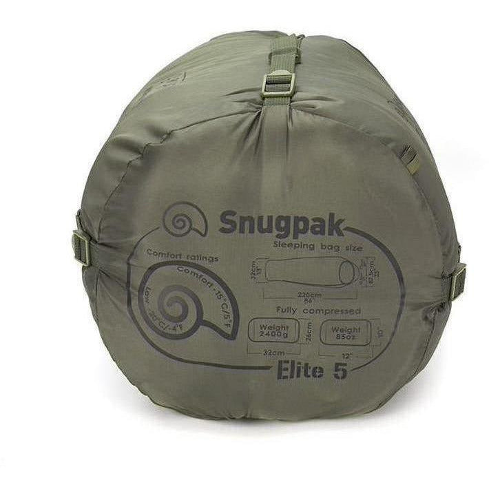 Snugpak Softie Elite 5 Sleeping Bag - Olive Green